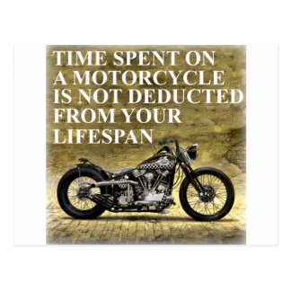 Time Spent On A Motorcycle Postcard