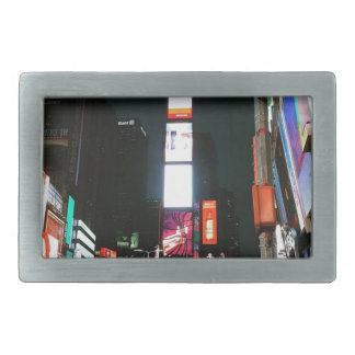 Time Square, NYC Rectangular Belt Buckles