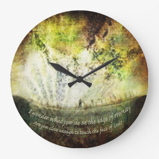 "Time - ""The Edge of Eternity"" Large Clock"