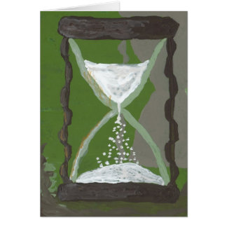 Time through the hourglass card