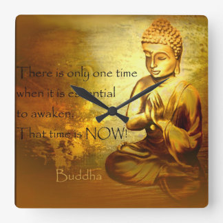 Time to awaken...Buddha quote clock