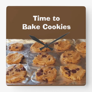 Time to Bake Cookies Wall Clock