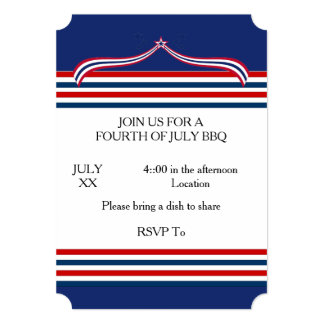 Time To BBQ July 4th Party Invitation
