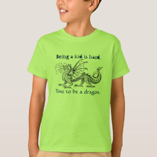 """Time to Be a Dragon"" Girl's T-Shirt"