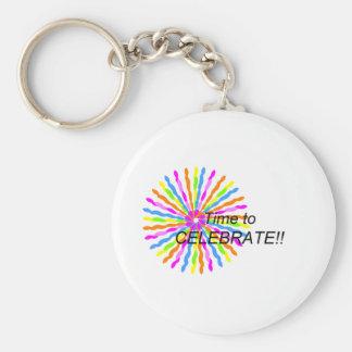 Time to Celebrate Keychain