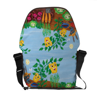 Time To Count-Garden Messenger Bags