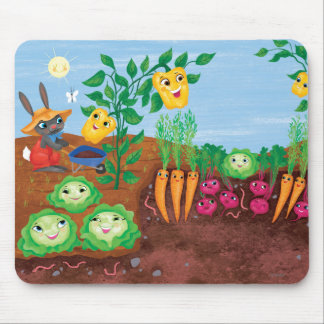 Time To Count-Garden Mouse Pad