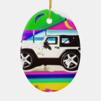 Time to Drive Ceramic Ornament