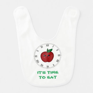 Time To Eat Baby Bibs