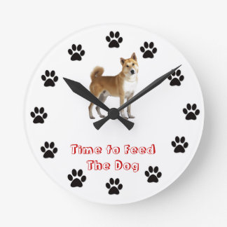 Time to feed the Canaan dog Clocks