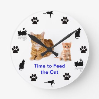 Time to feed the cat (2) wallclocks