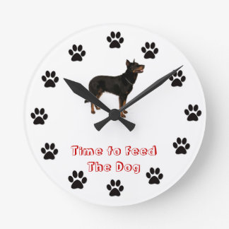 Time to feed the dog Beauceron Wallclock