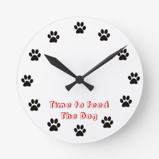 Time to feed the dog wallclocks