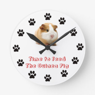 Time to feed the Guinea Pig Wallclocks