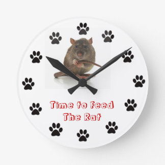 Time to feed the Rat Round Clock