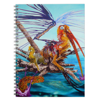 Time To Fly Away Oil On Canvas Painting Notebook