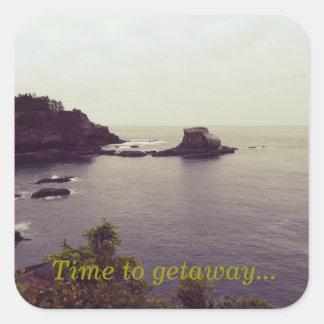 Time to getaway... sticker reminder