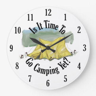 Time To Go Camping Clock