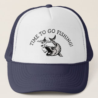 TIME TO GO FISHING BASEBALL CAP