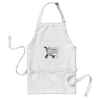 Time To Go Shopping Aprons