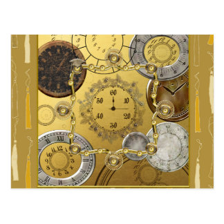 Time to Graduate, Time Pieces with Graduation Caps Postcard