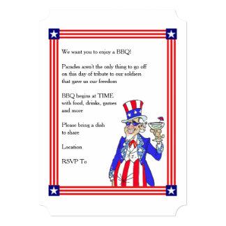 Time To Grill Memorial Day Party Invitations