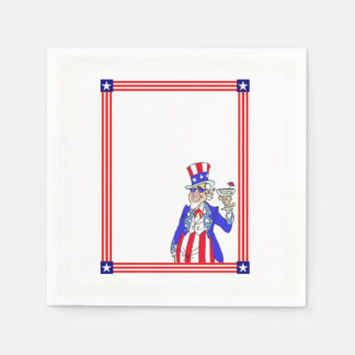 Time To Grill Memorial Day Party Paper Napkin