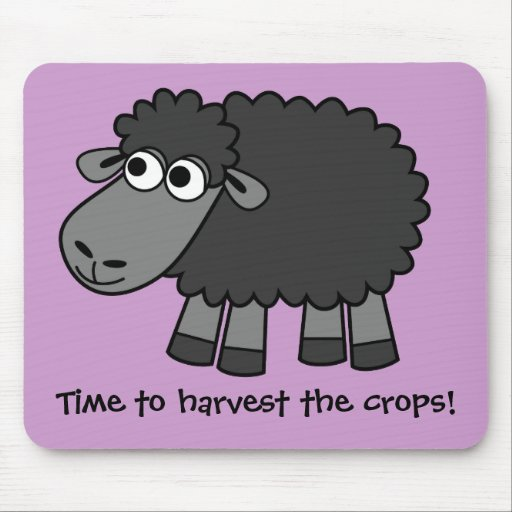 Time to harvest the crops! (Virtual Farming) Mousepad
