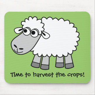 Time to harvest the crops Virtual Farming Mouse Pad