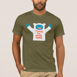 Time To Have Fun Cute Big Foot Men's Basic T-shirt