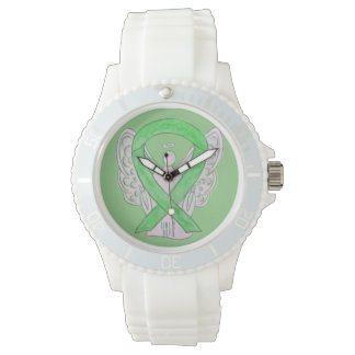 Time to Hope Lime Green Awareness Ribbon Watch