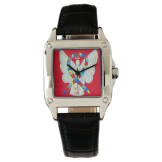 Time to Hope Puzzle Awareness Ribbon Custom Watch
