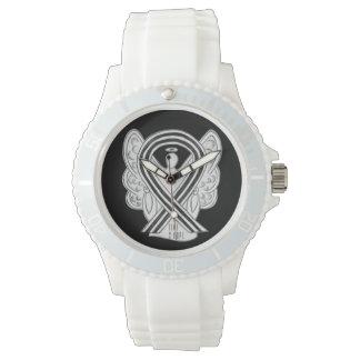 Time to Hope White & Black Awareness Ribbon Watch