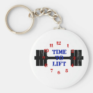 Time To Lift Basic Round Button Key Ring