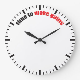 Time To Make Gains - Gym Motivation Large Clock
