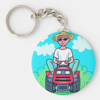 TIme to Mow Key Ring