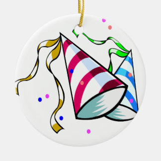 Time to Party! Round Ceramic Decoration