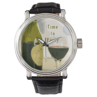"""Time to Party"" Wine Art Watch"