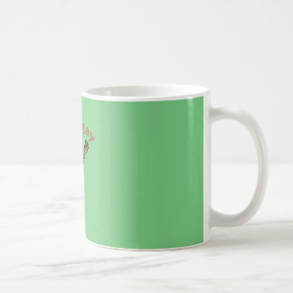 Time to Play Acoustic Guitar - Green Background Coffee Mug