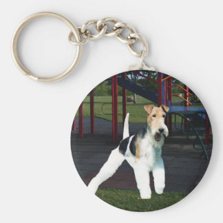 Time to Play! Basic Round Button Key Ring