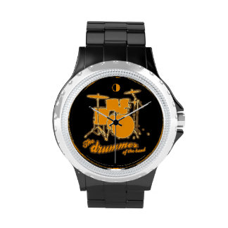 time to play drum wristwatch