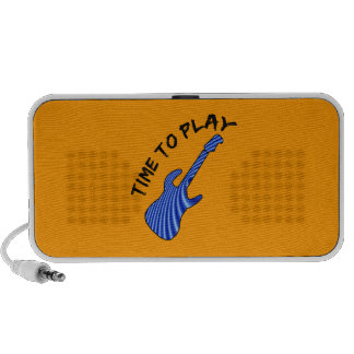 Time To Play Electric Guitar - Orange Background PC Speakers