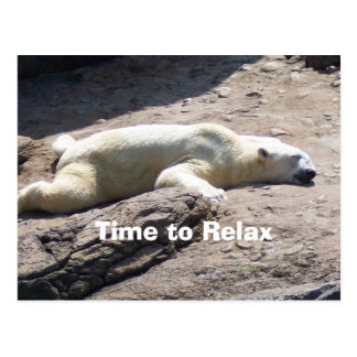Time to Relax Postcard