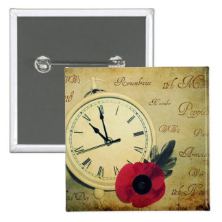 Time To Remember Remembrance Day Button