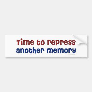 Time To Repress Bumper Sticker