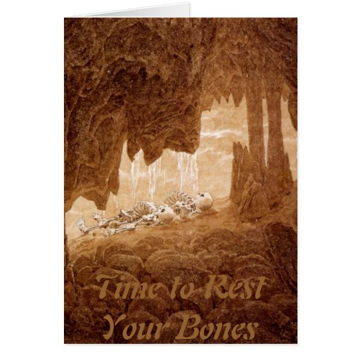 Time to rest your Bones retirement card