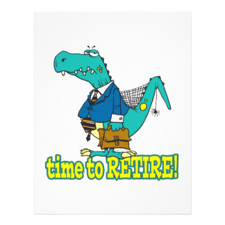 time to retire old working dinosaur 21.5 cm x 28 cm flyer