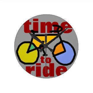 time to ride ~ bike round clock