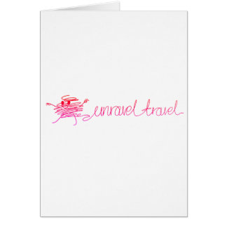 Time to Unravel Your Travel - Start Planning Today Card