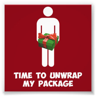 Time to Unwrap My Christmas Package Photo Art
